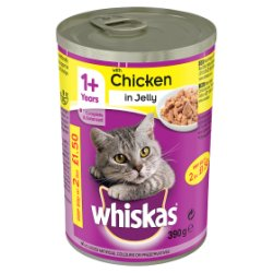 WHISKAS 1+ Cat Tin with Chicken in Jelly 390g