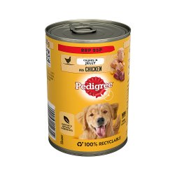 Pedigree Adult Wet Dog Food Tin with Chicken in Jelly 385g (PMP 95p)