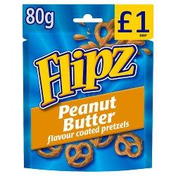 Flipz Peanut Butter Flavour Coated Pretzels 80g