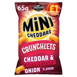 Jacob's Mini Cheddars Crunchlets Cheddar & Caramelised Onion Flavour 65g