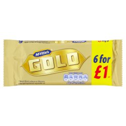 McVitie's 6 Gold Bars 132g