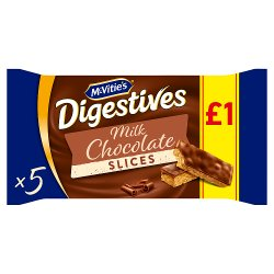 McVitie's Digestives 5 Slices Topped with Milk Chocolate 114.1g
