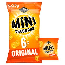 Jacob's Mini Cheddars 6 Original 150g