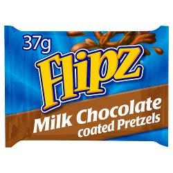Flipz Milk Chocolate Covered Pretzels 37g