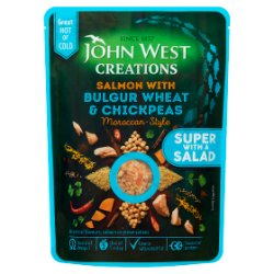 John West Creations Salmon with Bulgur Wheat & Chickpeas Moroccan-Style 180g