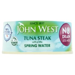 John West No Drain Tuna Steak with a Little Spring Water 110g