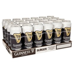 Guinness Draught Stout Beer Surger 24 x 520ml Can