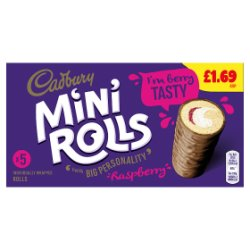 Cadbury 5 Mini Rolls Raspberry