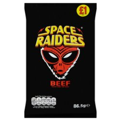 Space Raiders Beef Flavour Cosmic Corn Snacks 86.5g