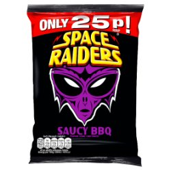 Space Raiders Saucy BBQ Flavour Cosmic Corn Snacks 20g