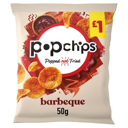 Popchips Barbeque Flavour Popped Potato Chips 50g
