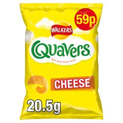 Walkers Quavers Cheese Snacks 59p PMP 20.5g