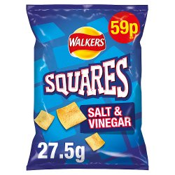Walkers Squares Salt & Vinegar Snacks 59p PMP 27.5g