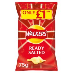 Walkers Ready Salted Crisps £1 PMP 75g