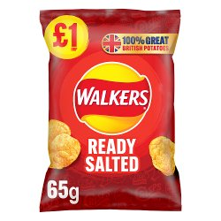 Walkers Ready Salted Crisps £1 PMP 65g