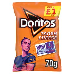 Doritos Tangy Cheese Tortilla Chips £1 RRP PMP 70g