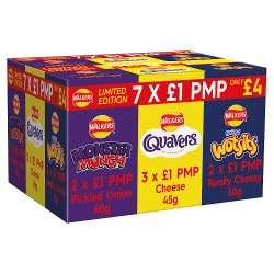 Walkers Limited Edition Variety Selection PMP 7 Packs
