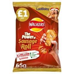 Walkers Sausage Roll Flavour Crisps 65g
