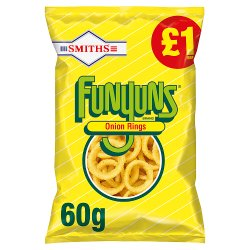 Smiths Funyuns Onion Rings £1 RRP PMP 60g