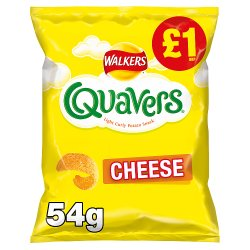 Walkers Quavers Cheese Snacks £1 RRP PMP 54g