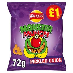 Walkers Monster Munch Pickled Onion Snacks £1 RRP PMP 72g