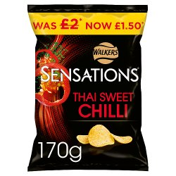 Walkers Sensations Thai Sweet Chilli Sharing Crisps £1.50 RRP PMP 170g