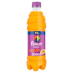 Rubicon Sparkling Passion Fruit Juice Drink 500ml Bottle