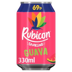 Rubicon Sparkling Guava Juice Drink 330ml, PMP 69p