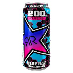 Rockstar XD Power Blue Raz Energy Drink 500ml Can, PMP £1.29