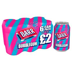 Barr Bubblegum 6 x 330ml, PMP £2