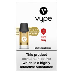 Vype vPro x2 ePod Cartridges Very Berry 18mg/ml