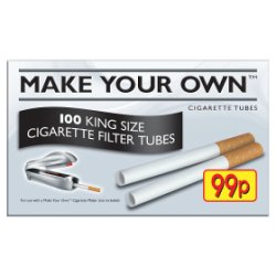Make Your Own 100 King Size Cigarette Filter Tubes 99p PMP