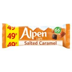 Alpen Light Cereal Bars Salted Caramel 24 x 19g PMP 49p