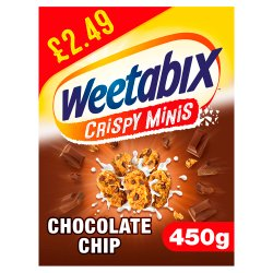 Weetabix Crispy Minis Chocolate Chip 450g Pricemarked £2.49