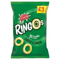 Golden Wonder Ringos Cheese & Onion 55g