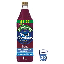 Robinsons Fruit Creations Juicy Blackberry & Blueberry 1L
