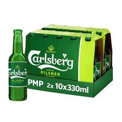 Carlsberg Danish Pilsner 10 x 330ml Bottles PMP £8.79