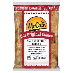 McCain Original Choice 1/4lb Vegetable Burger 1.13kg