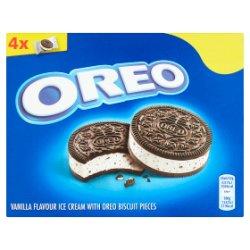 Oreo Vanilla Flavour Ice Cream with Oreo Biscuit Pieces 4 x 55ml (220ml)