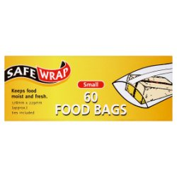 SafeWrap 60 Food Bags Small 178mm x 229mm