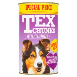 Tex Chunks with Turkey 1.2kg