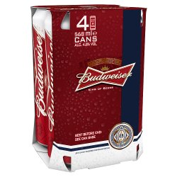 Budweiser Pint 4.8 Percent PM 4 For GBP6