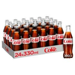 Diet Coke Glass Bottles 330 ml Pack of 24