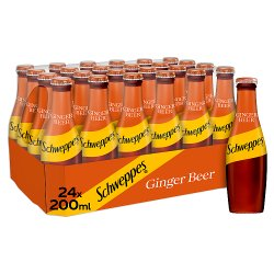 Schweppes Ginger Beer Glass Bottle