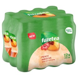 Fuze Tea Peach and Hibiscus 12 x 400ml