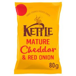 KETTLE® Mature Cheddar & Red Onion 80g