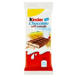 Kinder Chocolate with Cereals Single Bar 23.5g