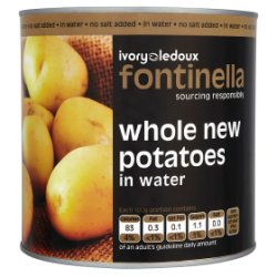 Fontinella Whole New Potatoes in Water 2.5kg
