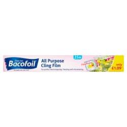 Bacofoil All Purpose Cling Film 30cm x 25m £1.09 PMP