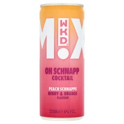 WKD Mixed Cocktail Oh Schnapp 250ml